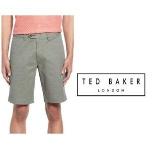 Ted Baker London Men Olive Slim Chino Shorts Sz 36